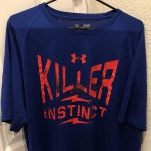 Under Armour Royal Blue Killer Instict T-Shirt XL